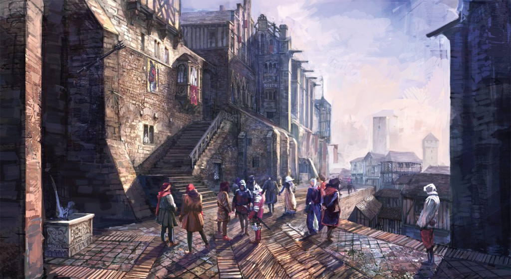 The Witcher 3 Stadt Artwork